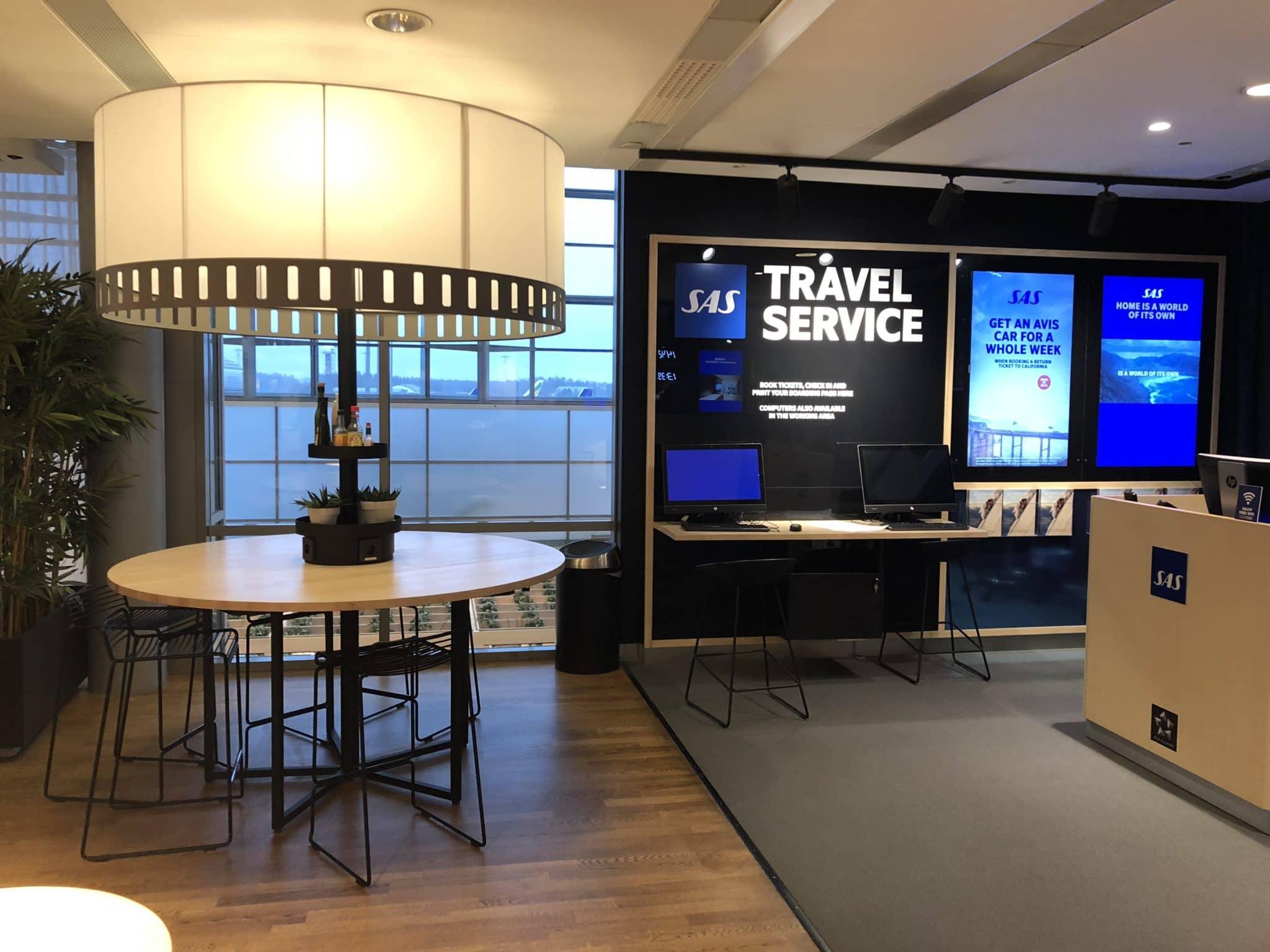 SAS Gold Lounge Oslo-Gardermoen Travel Service