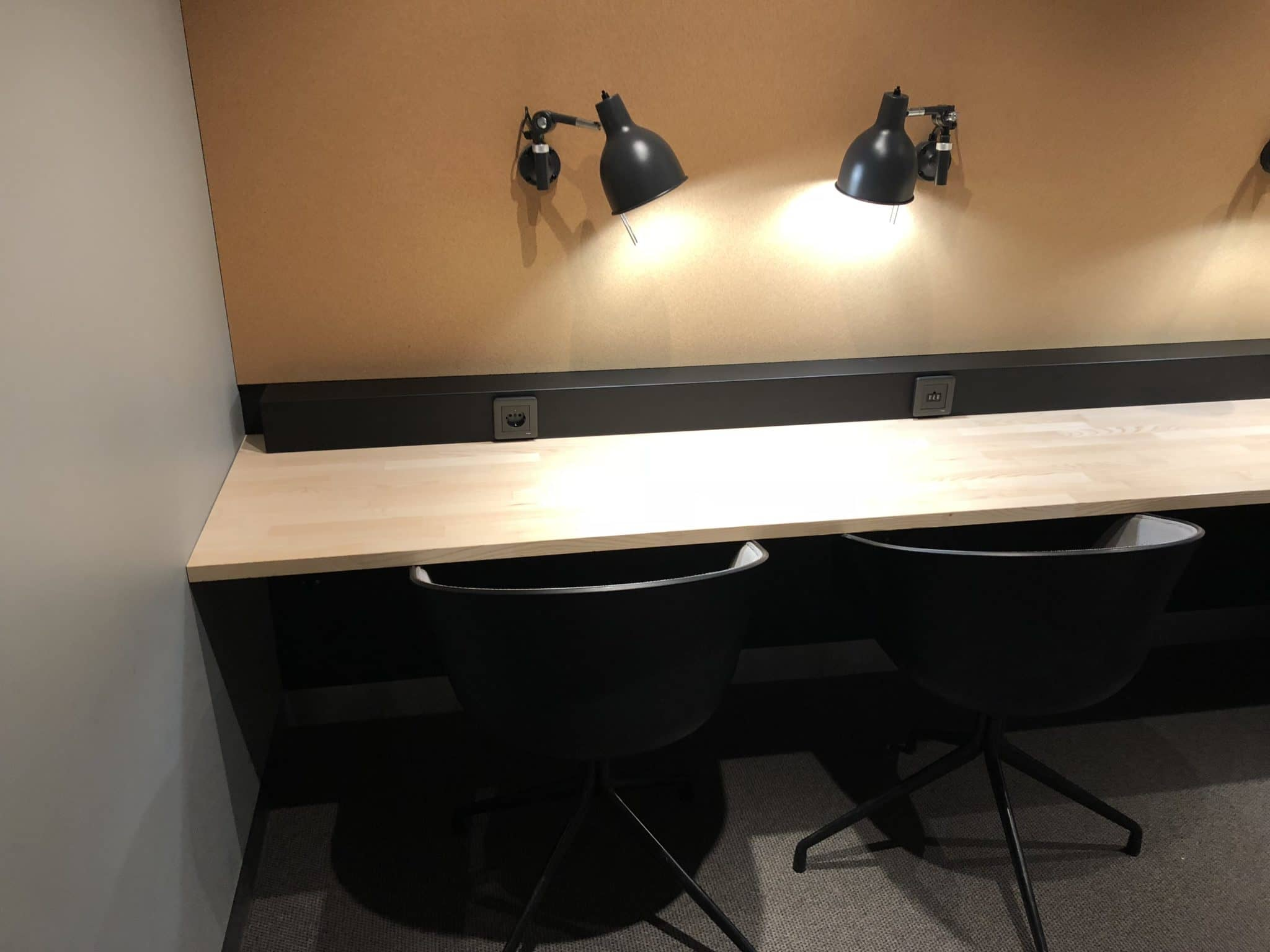 SAS Gold Lounge Oslo-Gardermoen Arbeitsplatz