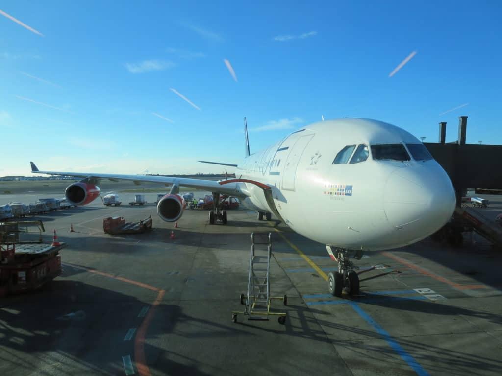 SAS Airbus A340 am Flughafen Kopenhagen