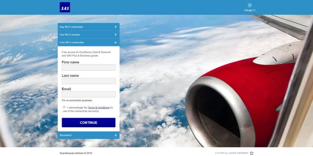 SAS Business Class Passagiere erhalten kostenlosen Internetzugang