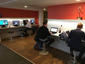 SAS Gold Lounge Kopenhagen Arbeitsbereich