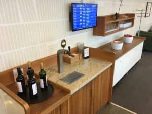SAS Gold Lounge Kopenhagen Bier und Wein