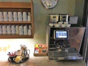 SAS Gold Lounge Kopenhagen Kaffee und Tee