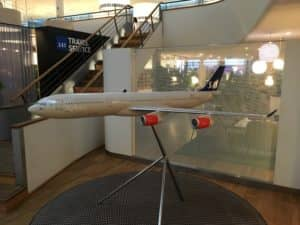 SAS Gold Lounge Kopenhagen Modellflugzeug