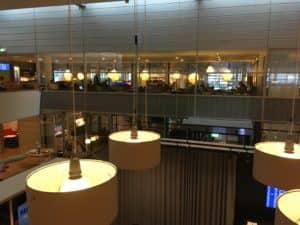 SAS Gold Lounge Kopenhagen Sitzbereich oben