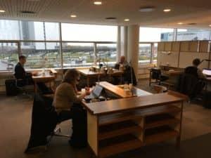 SAS Gold Lounge Kopenhagen Arbeitstische
