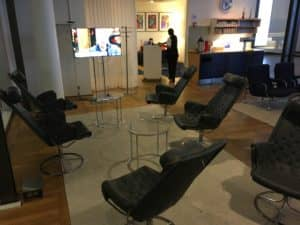 SAS Gold Lounge Kopenhagen Sessel