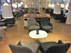 SAS Gold Lounge Kopenhagen Sitzbereich