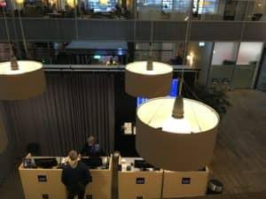 SAS Gold Lounge Kopenhagen Travel Service Schalter