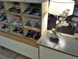 SAS Gold Lounge Kopenhagen Zeitschriften
