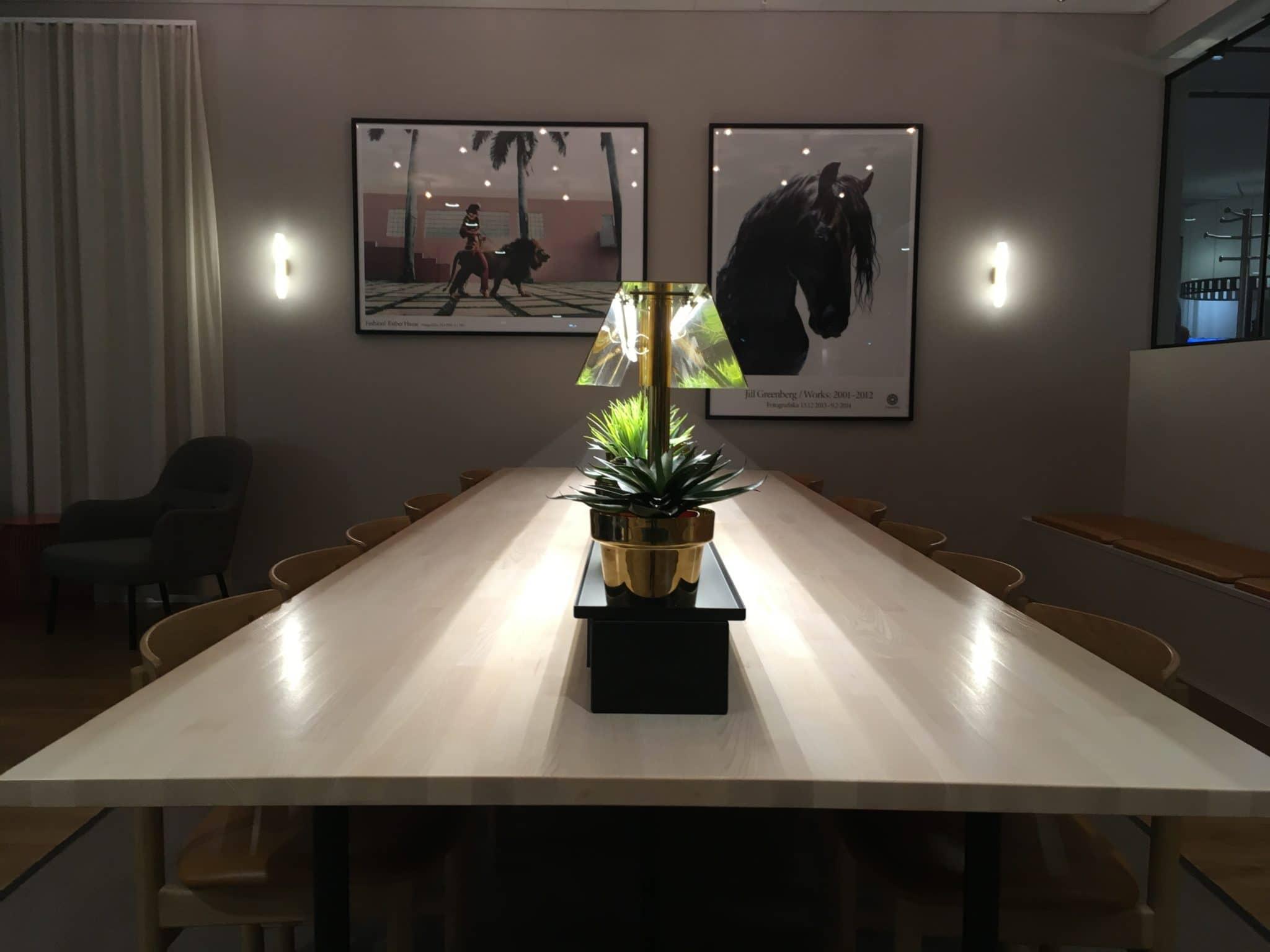 SAS Gold Lounge Stockholm Arbeitsplatz