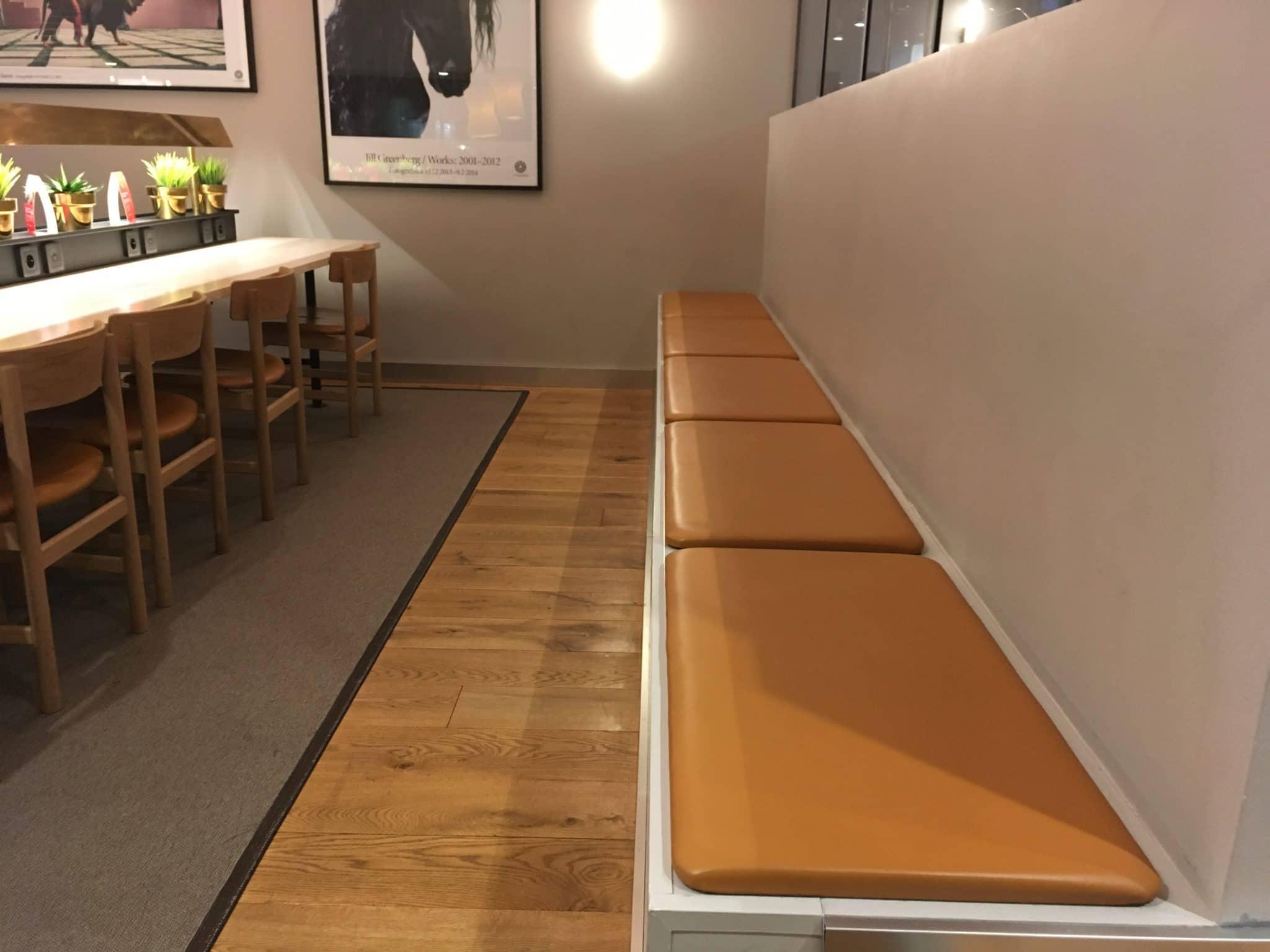 SAS Gold Lounge Stockholm Sitzbank
