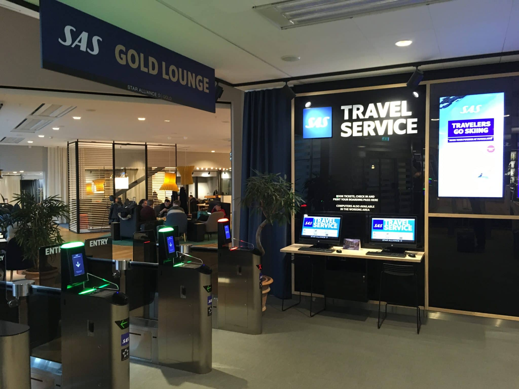 SAS Gold Lounge Stockholm Travel Service
