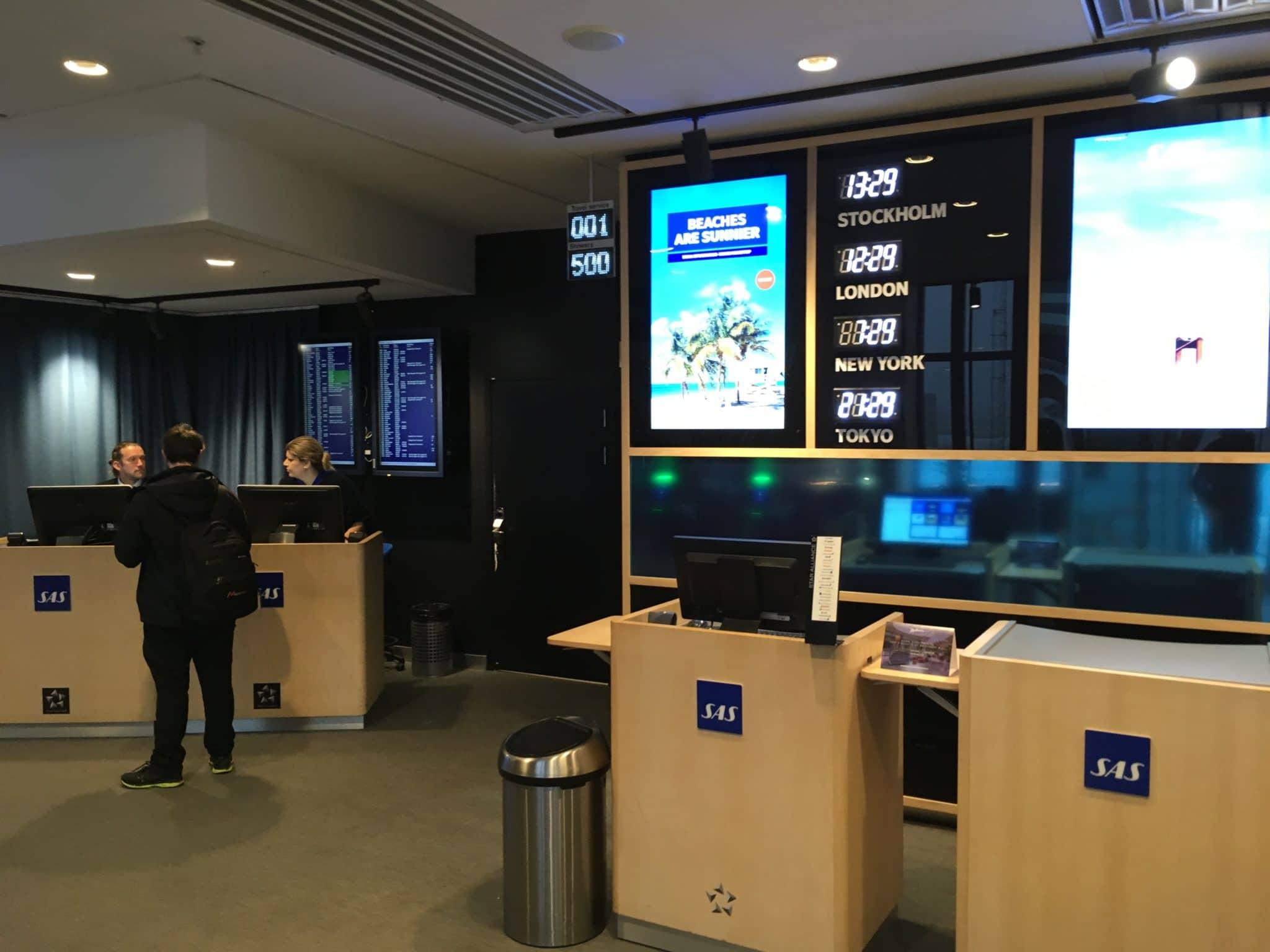 SAS Gold Lounge Stockholm Empfang