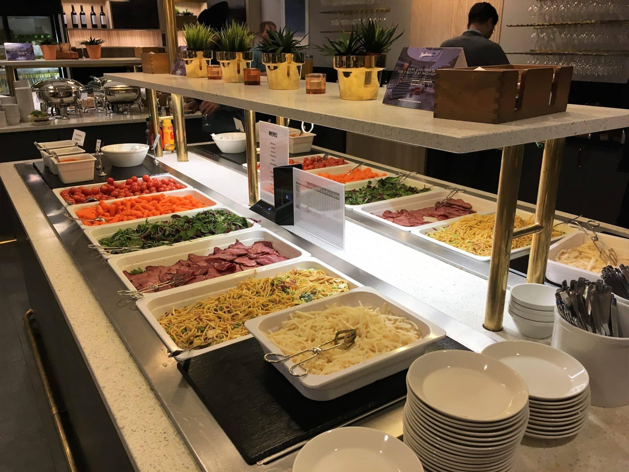 SAS Gold Lounge Stockholm Mittagstisch