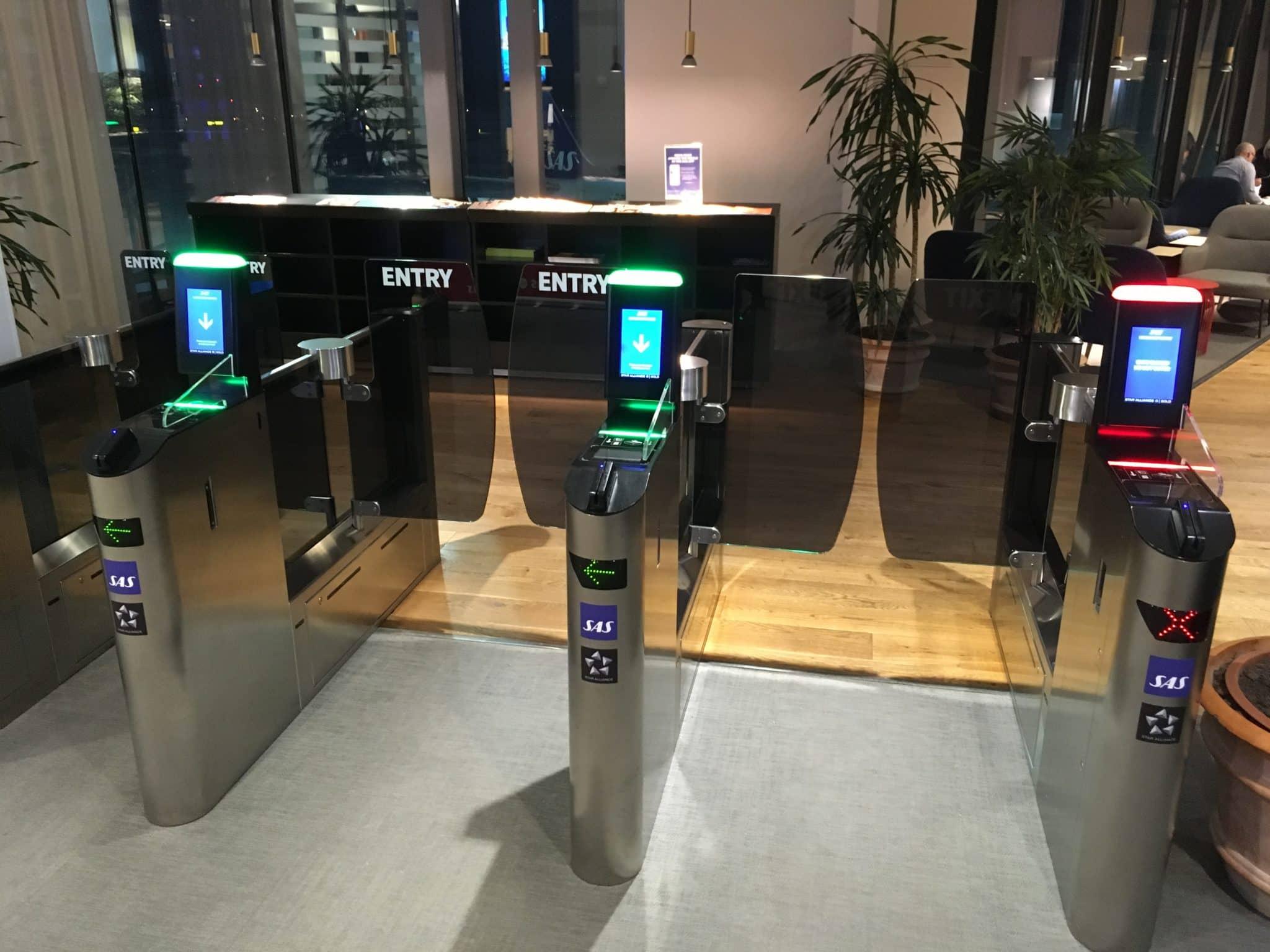 SAS Gold Lounge Stockholm Eingangsgate
