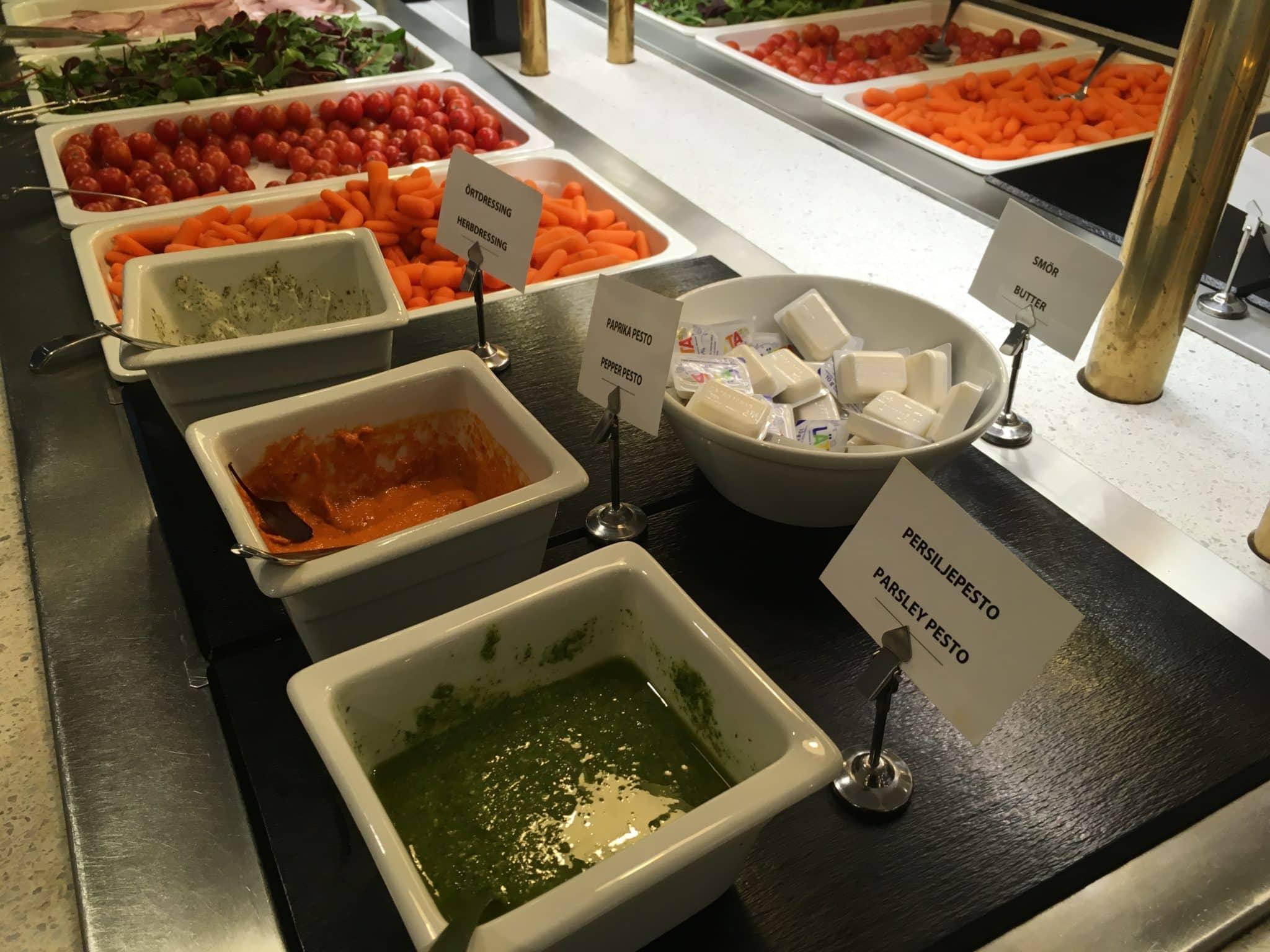 SAS Gold Lounge Stockholm Salat