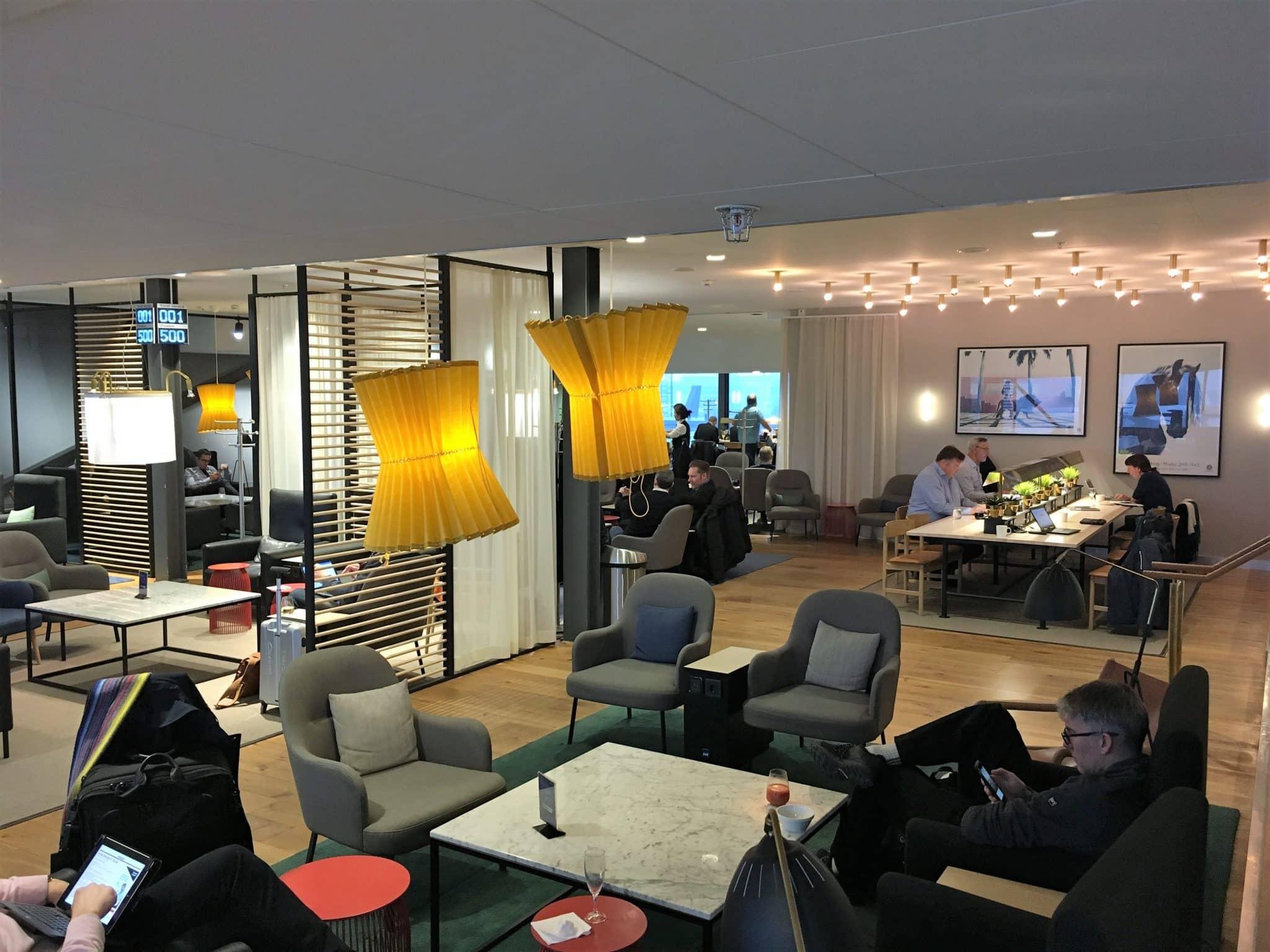 SAS Gold Lounge Stockholm Sitzbereich