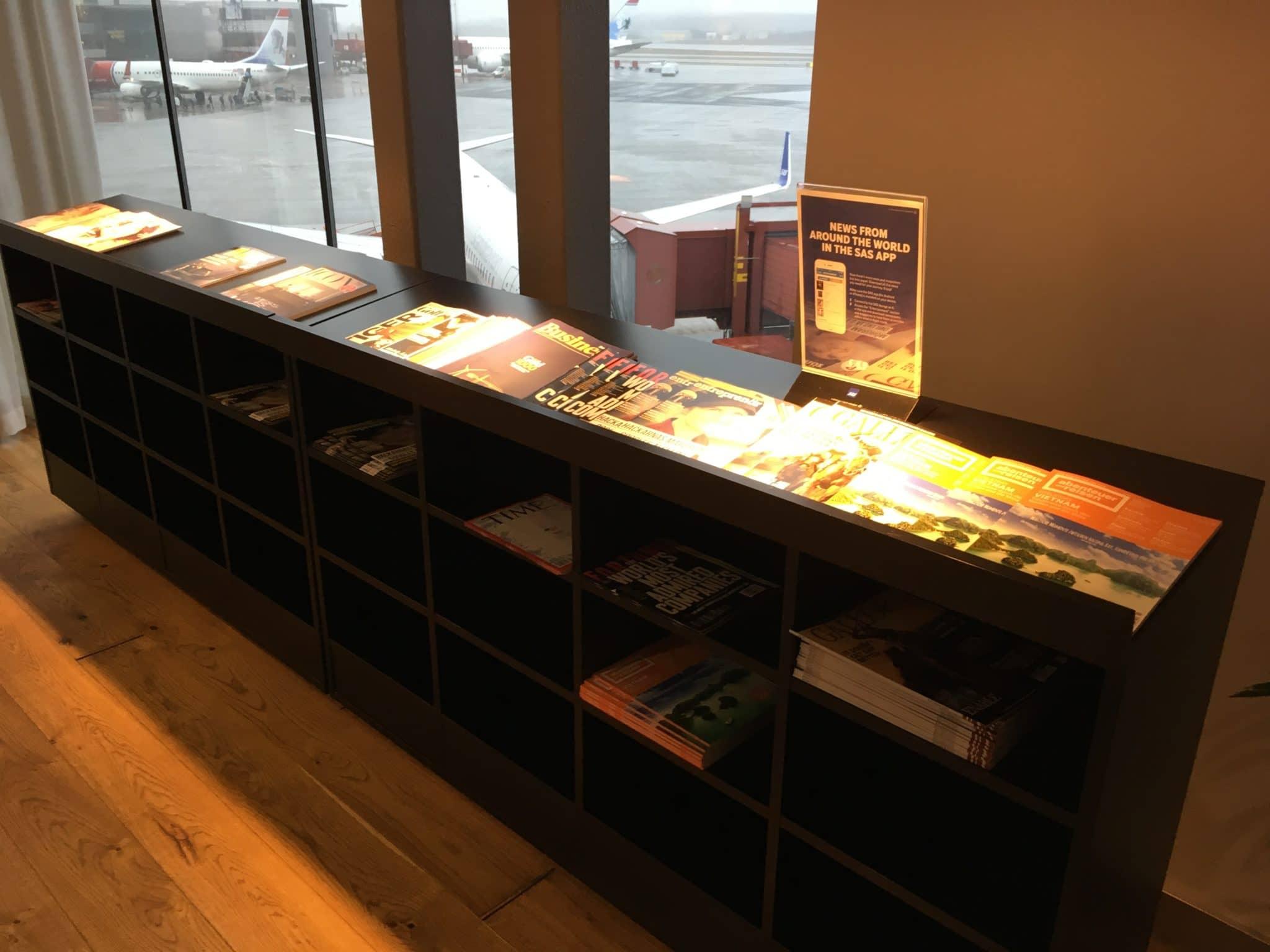 SAS Gold Lounge Stockholm Zeitschriften