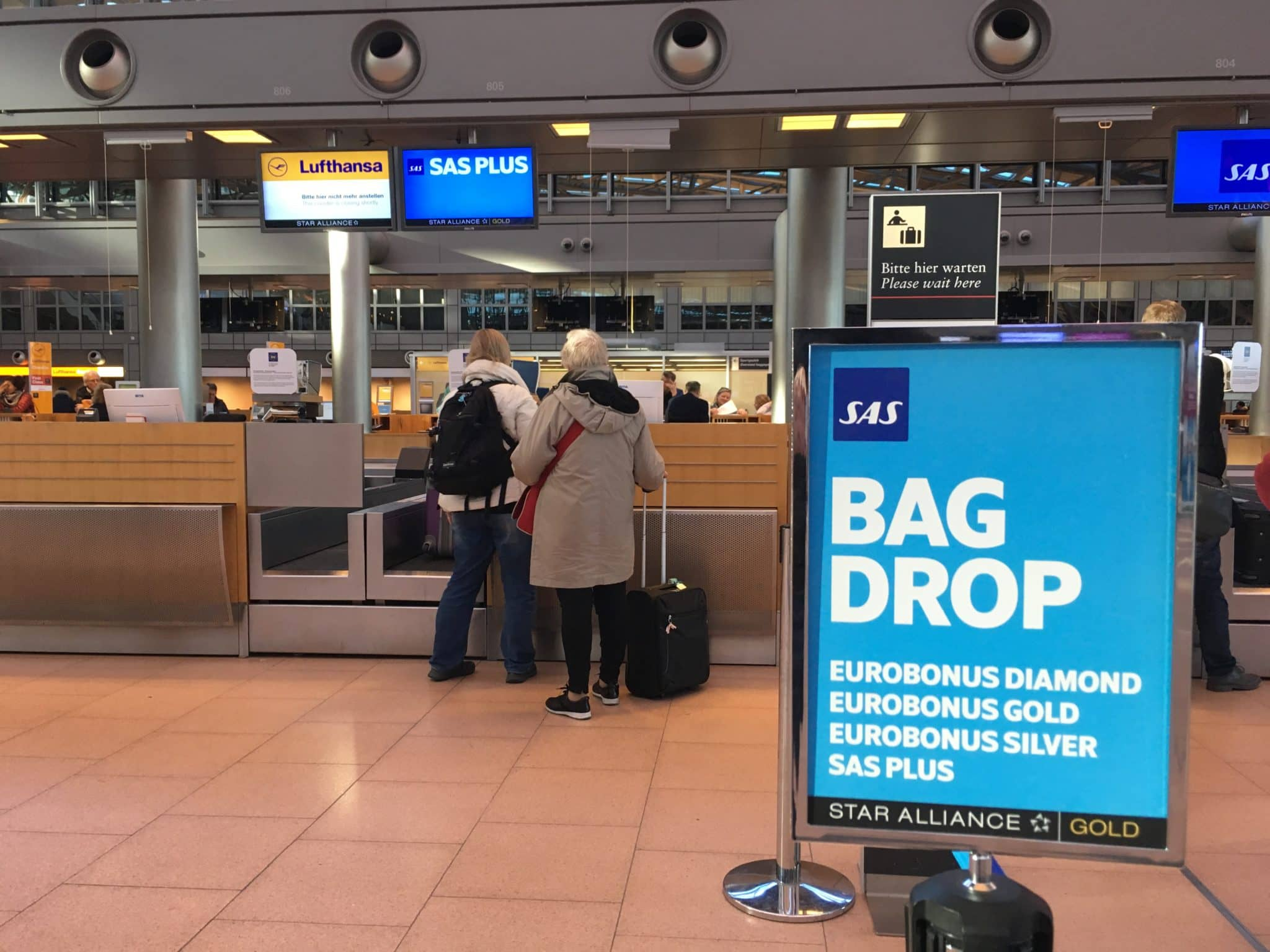 SAS Plus Check-In Schalter Hamburg