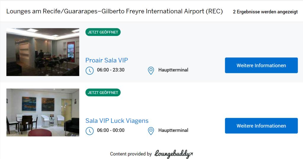 Suchergebnisse bei American Express für Recife