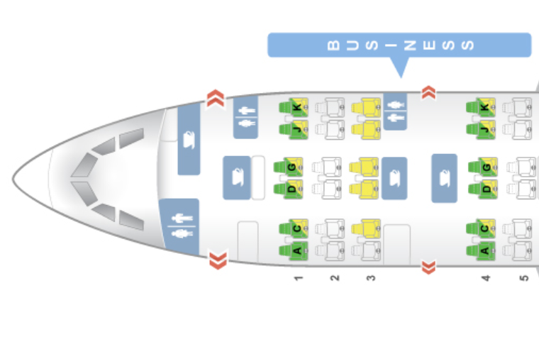Avianca Business Class Airbus A330-200 Sitzplan