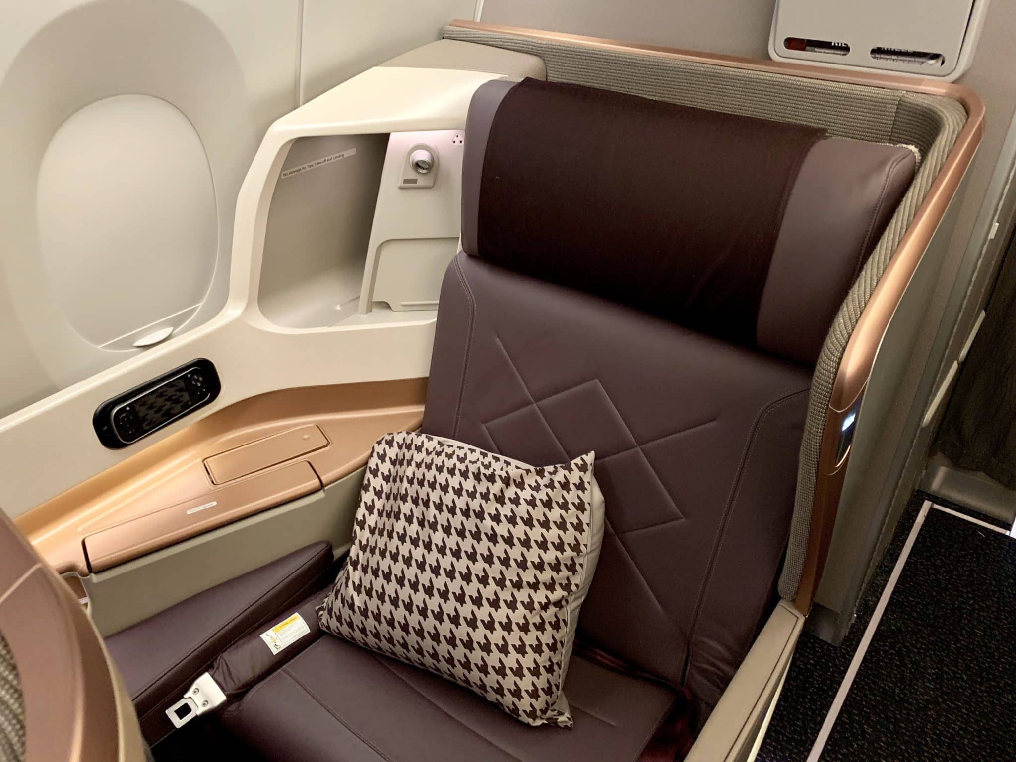 Singapore Airlines Business Class A350-900ULR Sitz