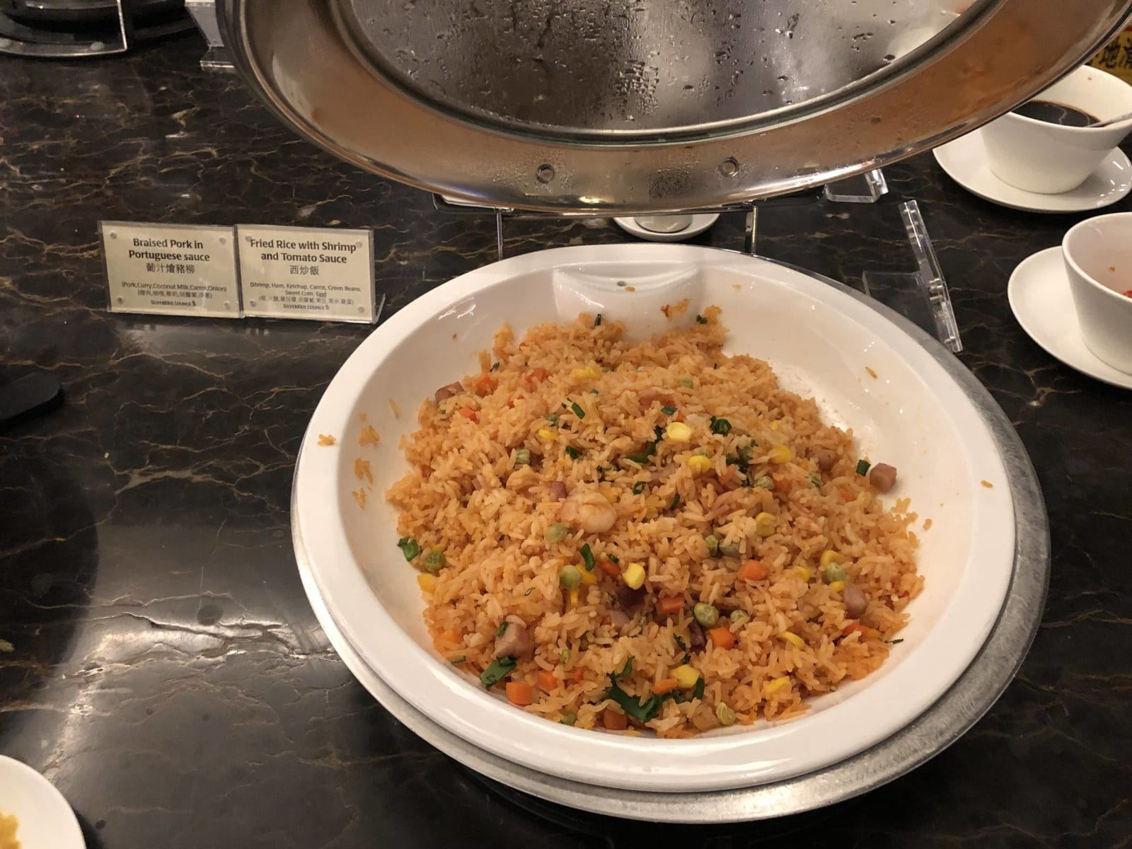 Singapore Airlines SilverKris Lounge Hong Kong Fried Rice