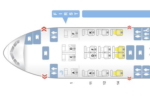 Singapore Airlines First Class Boeing 777-300 Sitzplan ©Seatguru