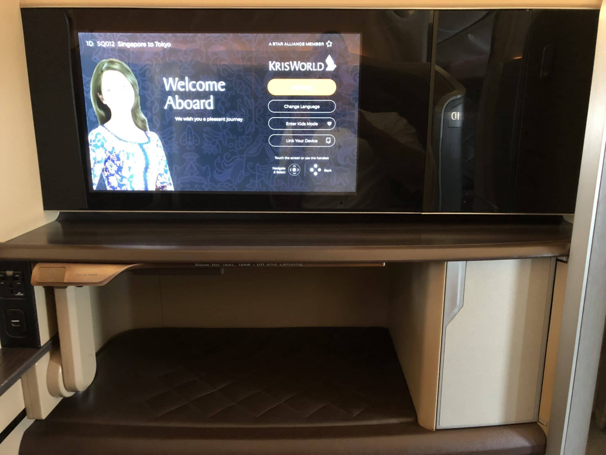 Singapore Airlines First Class Boeing 777-300 TV Monitor