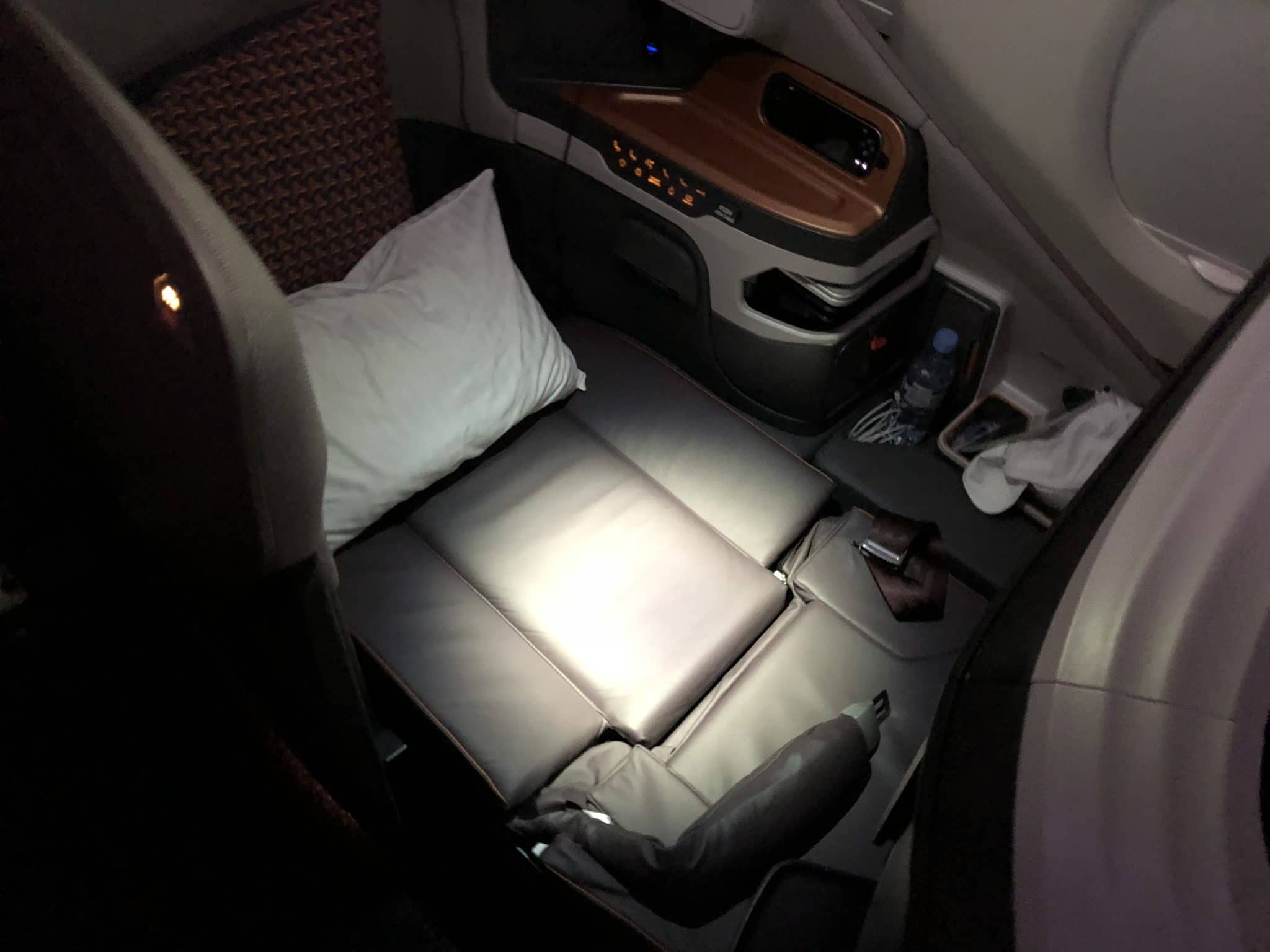 Singapore Airlines neue Business Class A380 Sitz als Bett