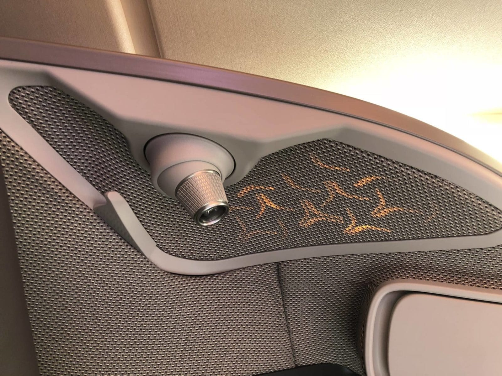 Singapore Airlines neue Business Class A380 Leselampe