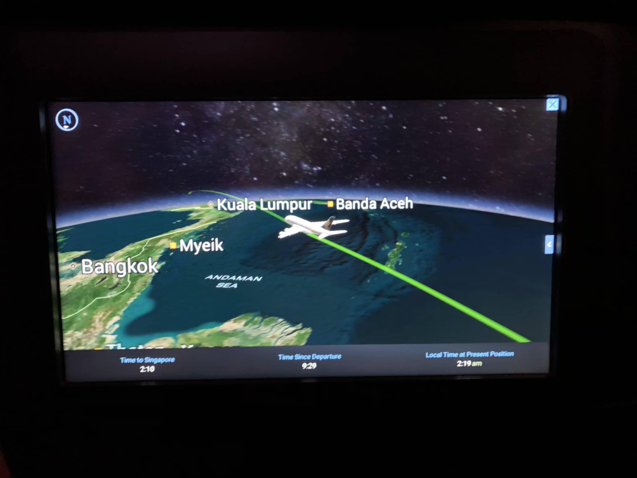 Singapore Airlines neue Business Class A380 Beginn Frühstück