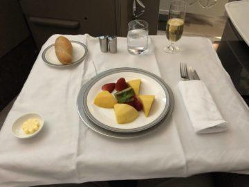 Singapore Airlines neue First Class A380 frische Früchte