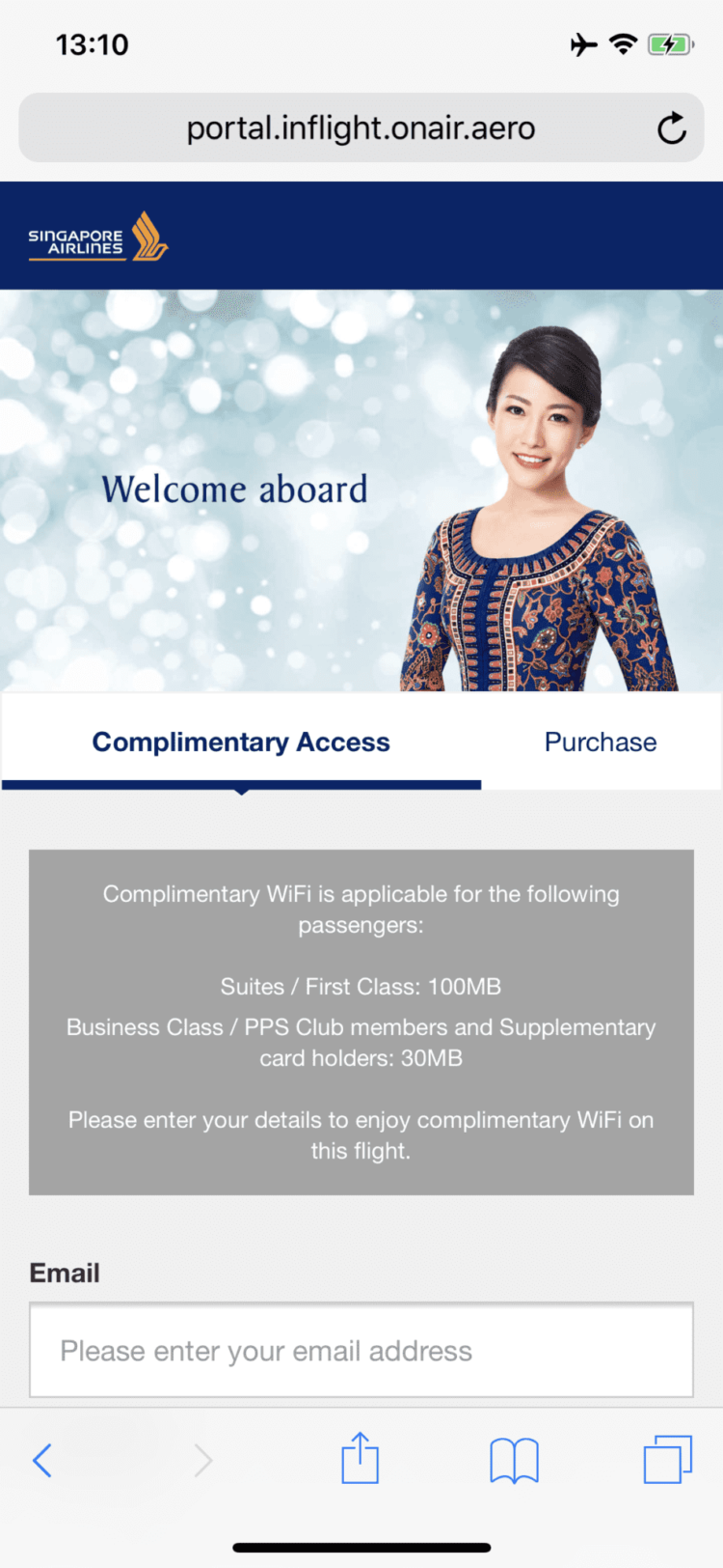 Singapore Airlines neue First Class A380 WiFi Kosten