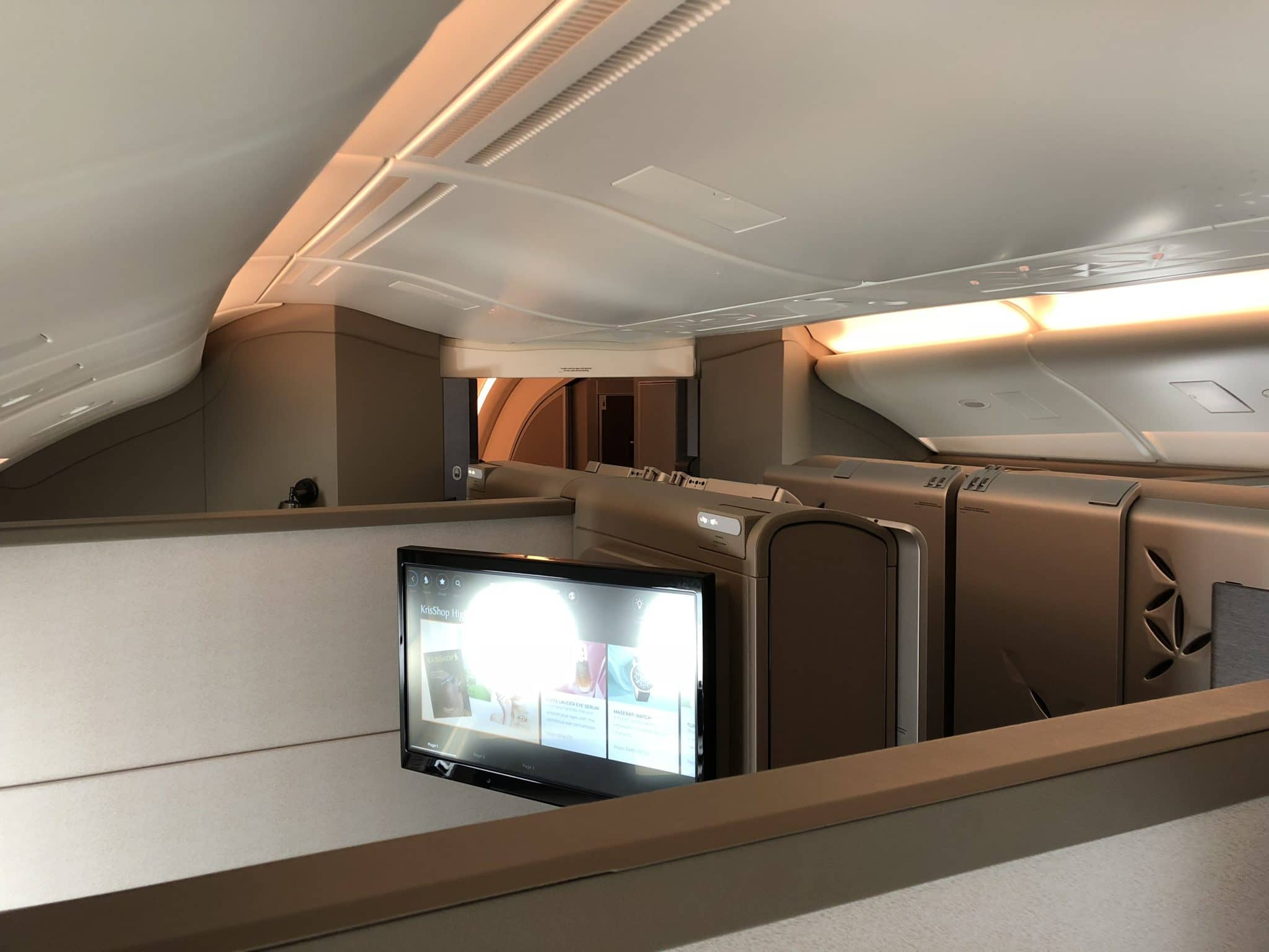Singapore Airlines neue First Class A380 Suite Kabine