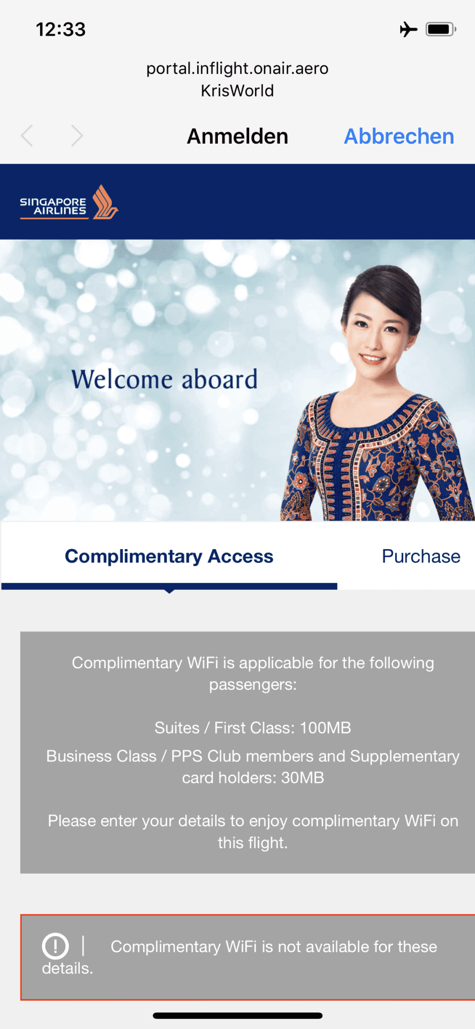 Singapore Airlines neue First Class A380 Complimentary WiFi