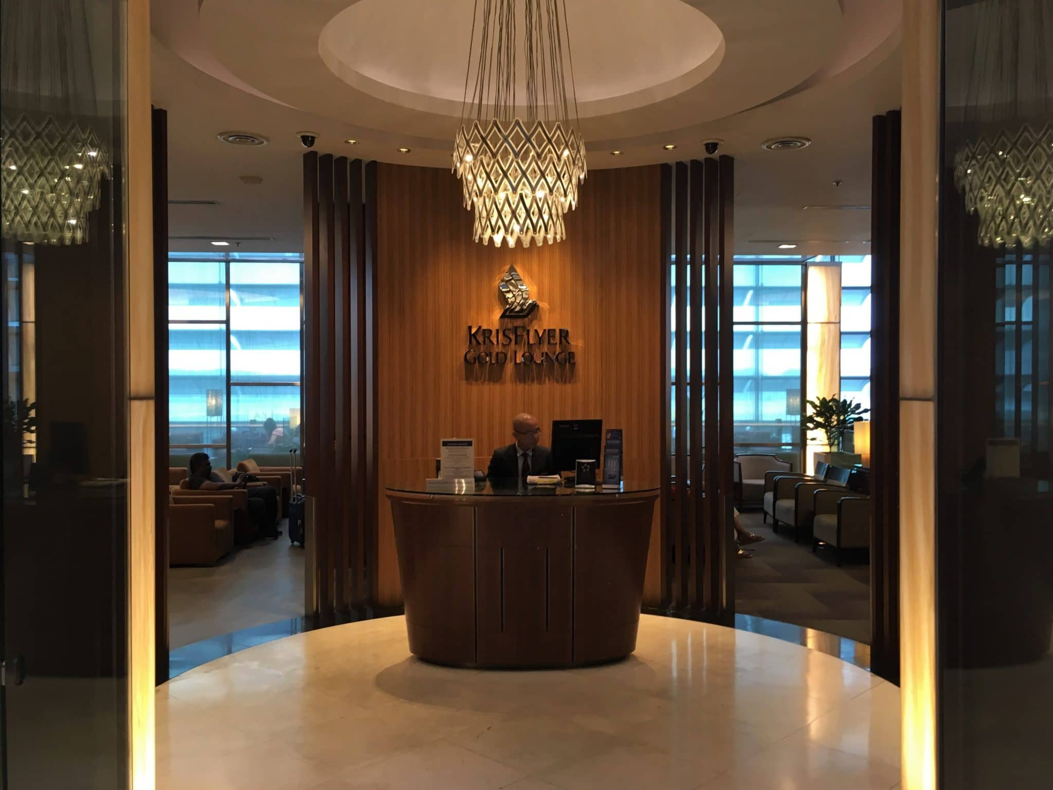 KrisFlyer Gold Lounge Changi Airport Terminal 3 - Empfangsbereich