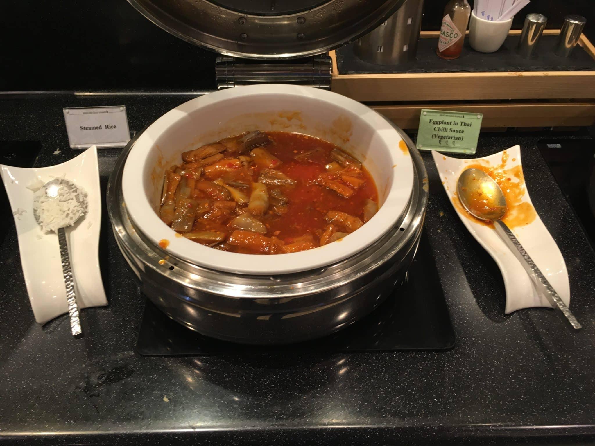 KrisFlyer Gold Lounge Changi Airport Terminal 3 - Eggplant Thai