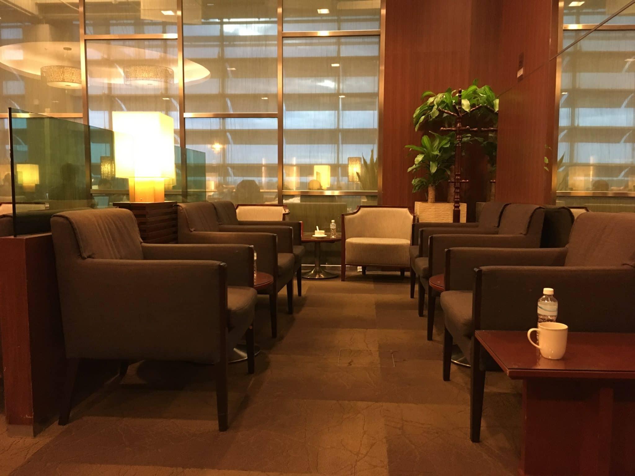 KrisFlyer Gold Lounge Changi Airport Terminal 3 - Sessel innen