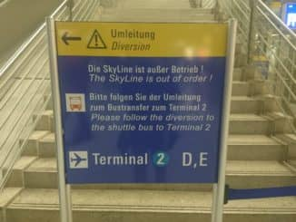 Am Frankfurter Flughafen ist die Sky Line gesperrt