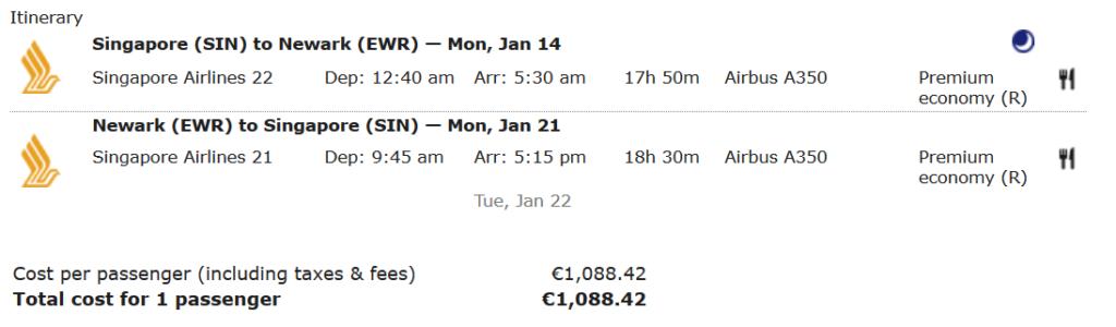 Singapore Airlines Premium Economy Flüge bringen jede Menge Meilen beim Asiana Club