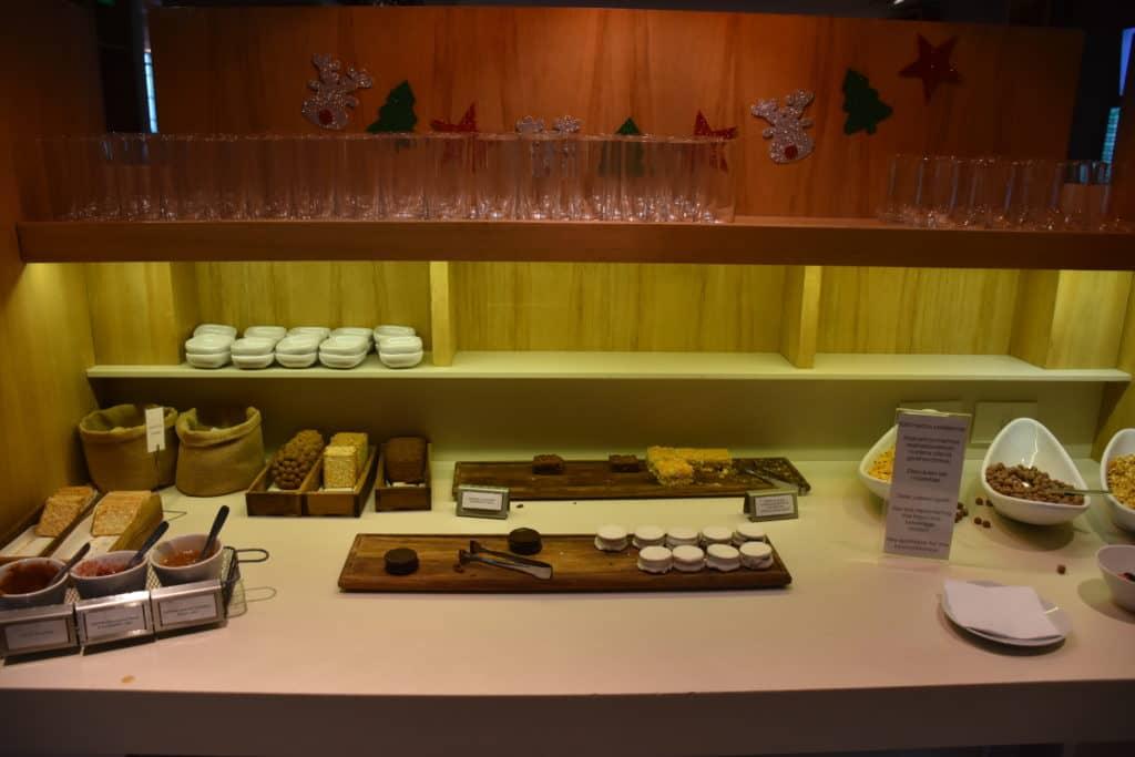 Dessertauswahl der Star Alliance Lounge Buenos Aires Ezeiza