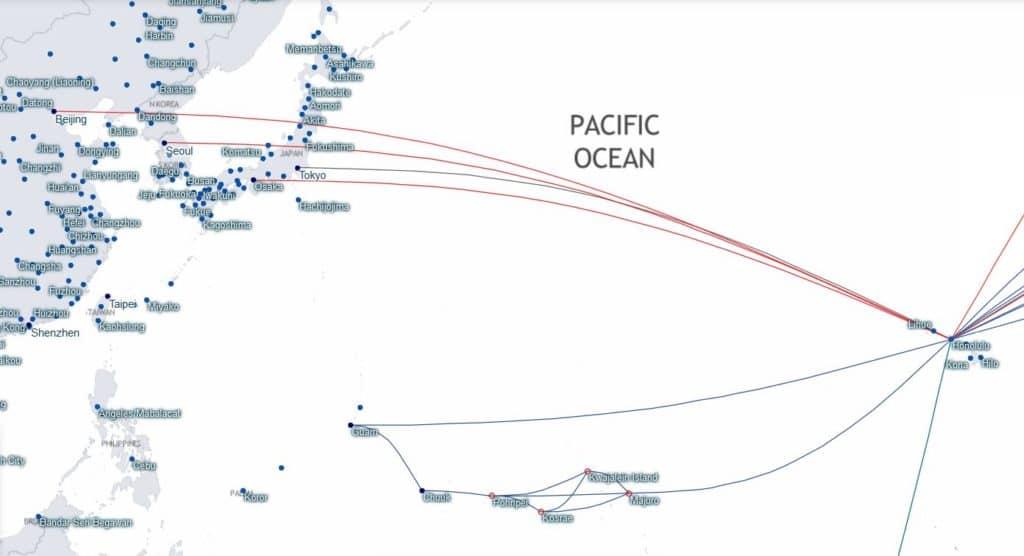 Star Alliance Verbindungen von Asien nach Honolulu