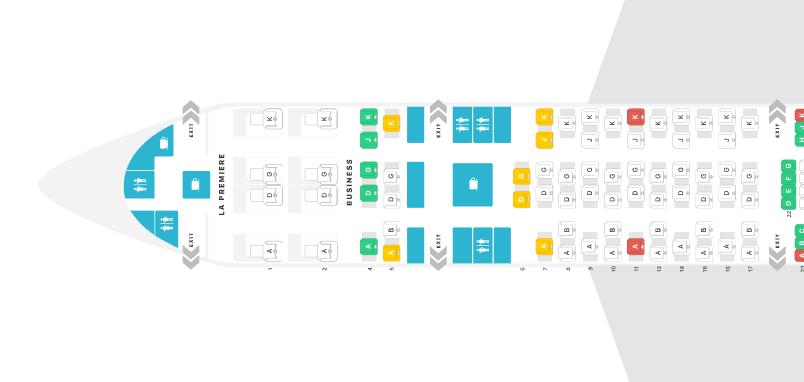 Swiss Boeing 777-300ER Business Class Seat Map © Seatguru