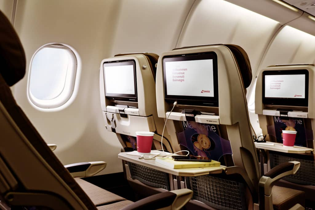 Swiss Economy Class im A340 © Swiss