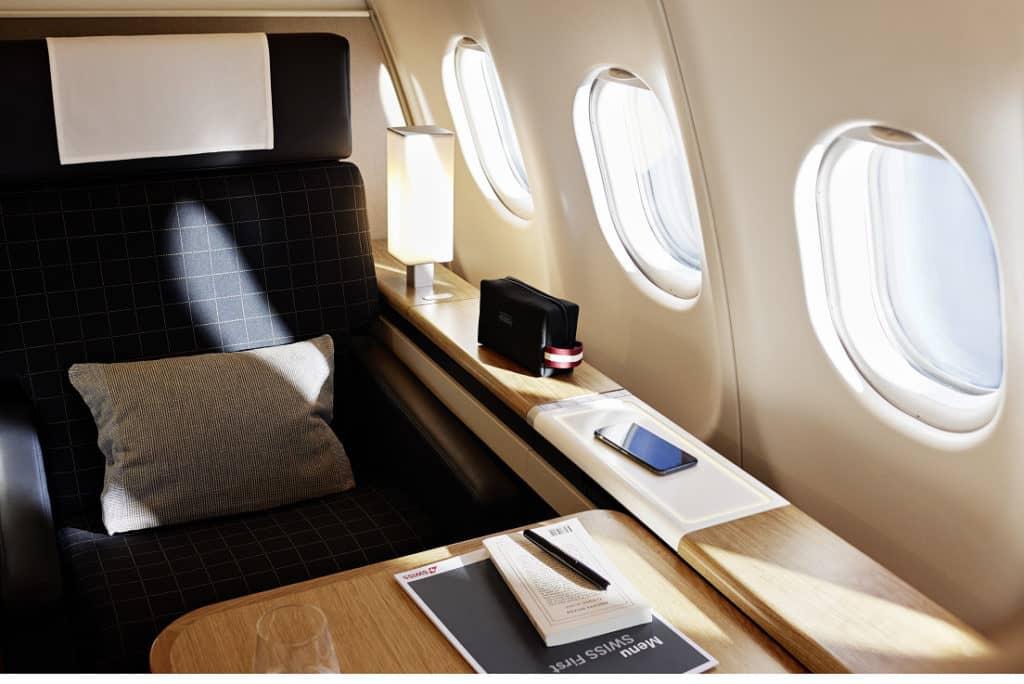 Die neue Swiss First Class im A340 &copy Swiss