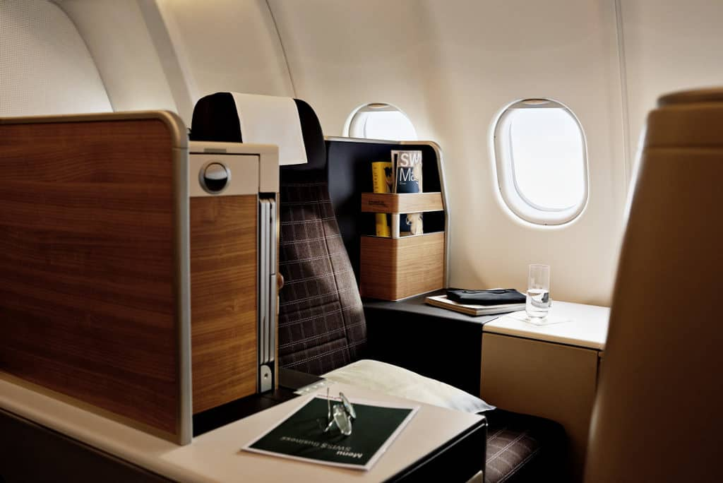 Die neue Swiss Business Class im A340 © Swiss