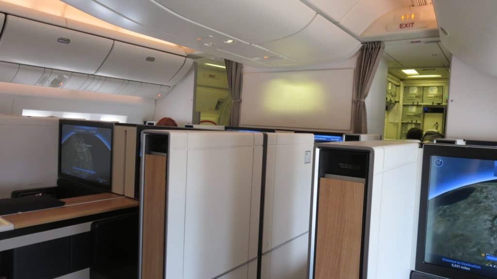 Swiss First Class Boeing 777-300ER Kabine