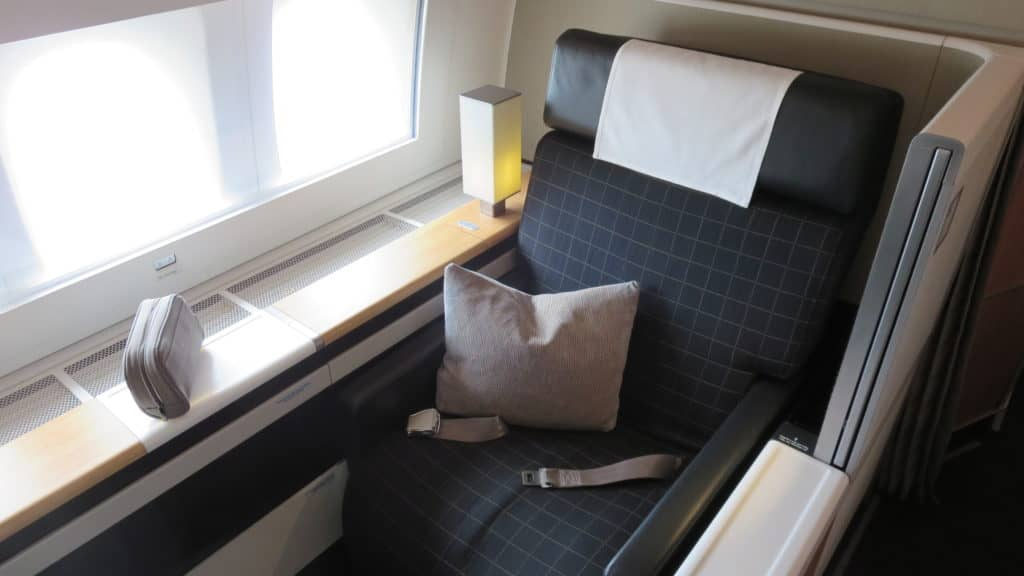 Swiss First Class Boeing 777-300ER Sitz